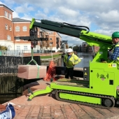 In action.19c - Canal trust - Stone lowering.2.Oct15