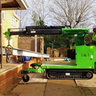 The Hooka the ultimate carry all terrain mini crane moving 1300kg steel i-beam