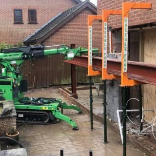 800kg-Steel-Beam-Installation-in-Woking