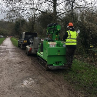 The Hooka on hire and being easily delivere on a standard plant trailer