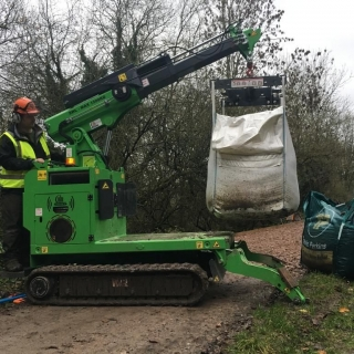 The Hooka on hire delivering bulk bags to point of use without need for manual handling