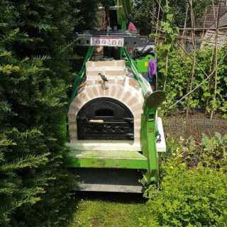 Hooka-Pizza-Oven-Installation-narrow-garden-access-Fuego-Pizza-Ovens-Approved