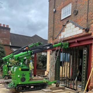 Heavy-Steel-Beam-Goalpost-Assembly-Installation-in-North-London