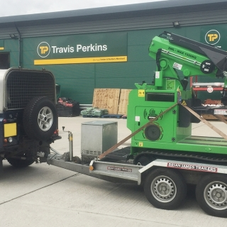 The Hooka can easily be moved from site to site with a standard digger or plant trailer