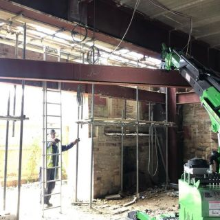 Taking-Down-Steel-Beams-from-a-Temporary-Installation2