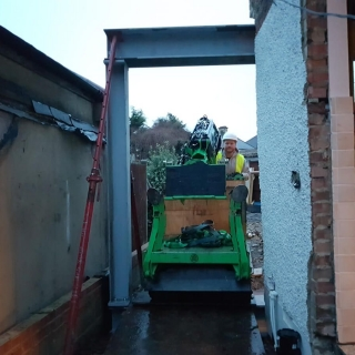 how to move a steel I-beam for a picture frame using the hooka steel beam lifter with restricted access