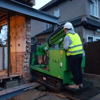how to move a steel beam for a picture frame using the hooka steel beam lifter with restricted access