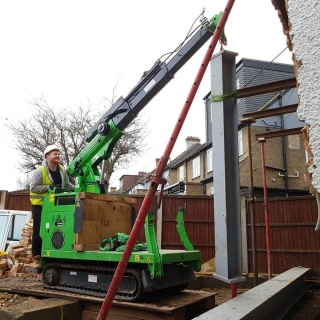 steel beam picture frame installation with the hooka steel beam lifter