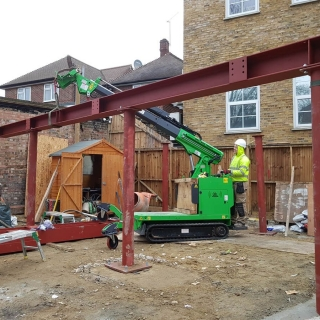 how to easily install steel I-beam frame with the hooka steel beam lifter
