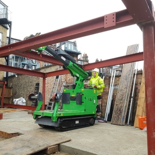 how to easily install steel RSJ beam frame with the hooka steel beam lifter