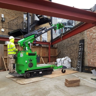 how to safely install steel RSJ beam frame with the hooka steel beam lifter
