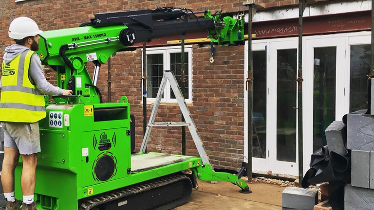 How to lift a Steel Beam for easy Installation using the steel beam manipulation head attachment with the Hooka, ultimate steel beam lifting machine