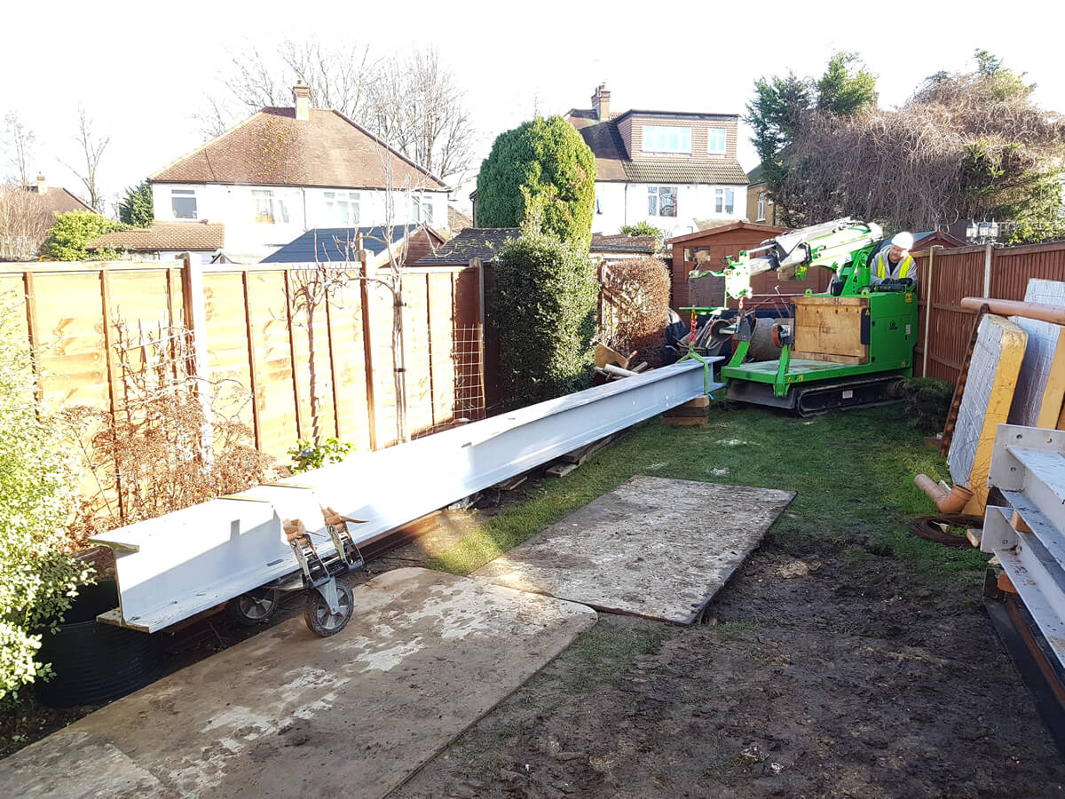how to safely move a steel beam for a picture frame with the hooka steel beam lifter