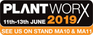 We're exhibiting at PlantWorx 2019, 11th to 13th June, Stand MA10 & MA11