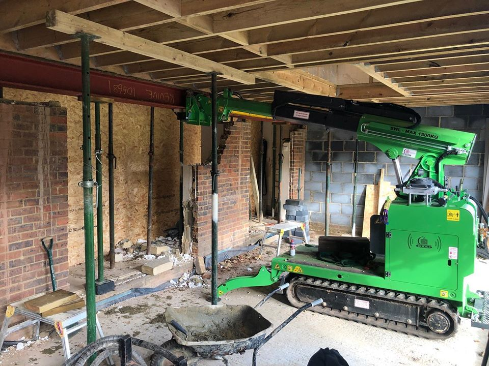 750kg Steel I-Beam Installation in Woking