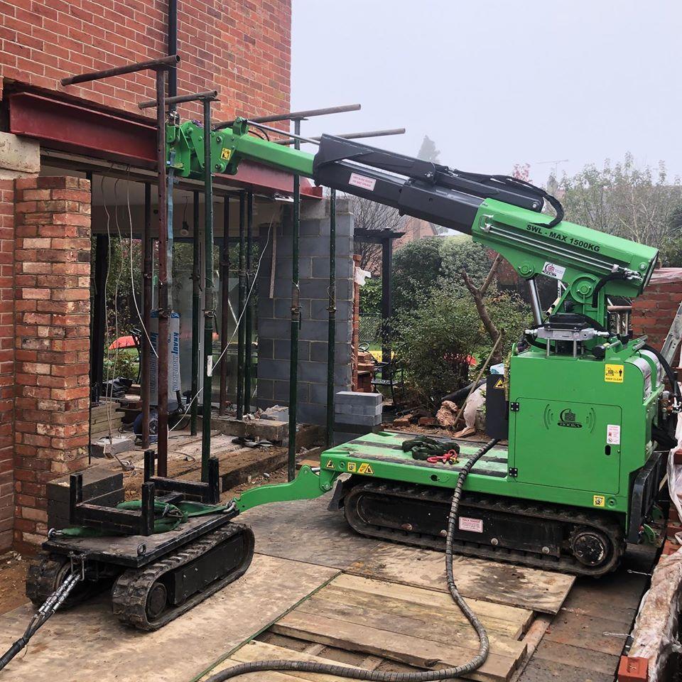 Steel Beam Installation in Farnham