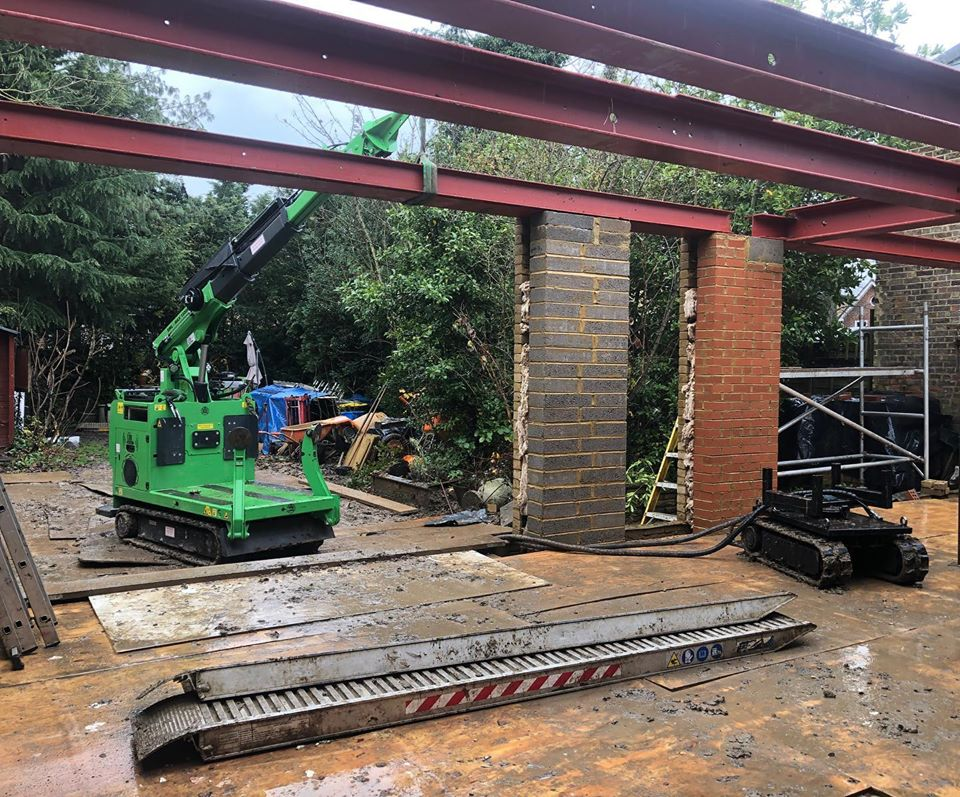 8 Steel Beams Installation in Staines
