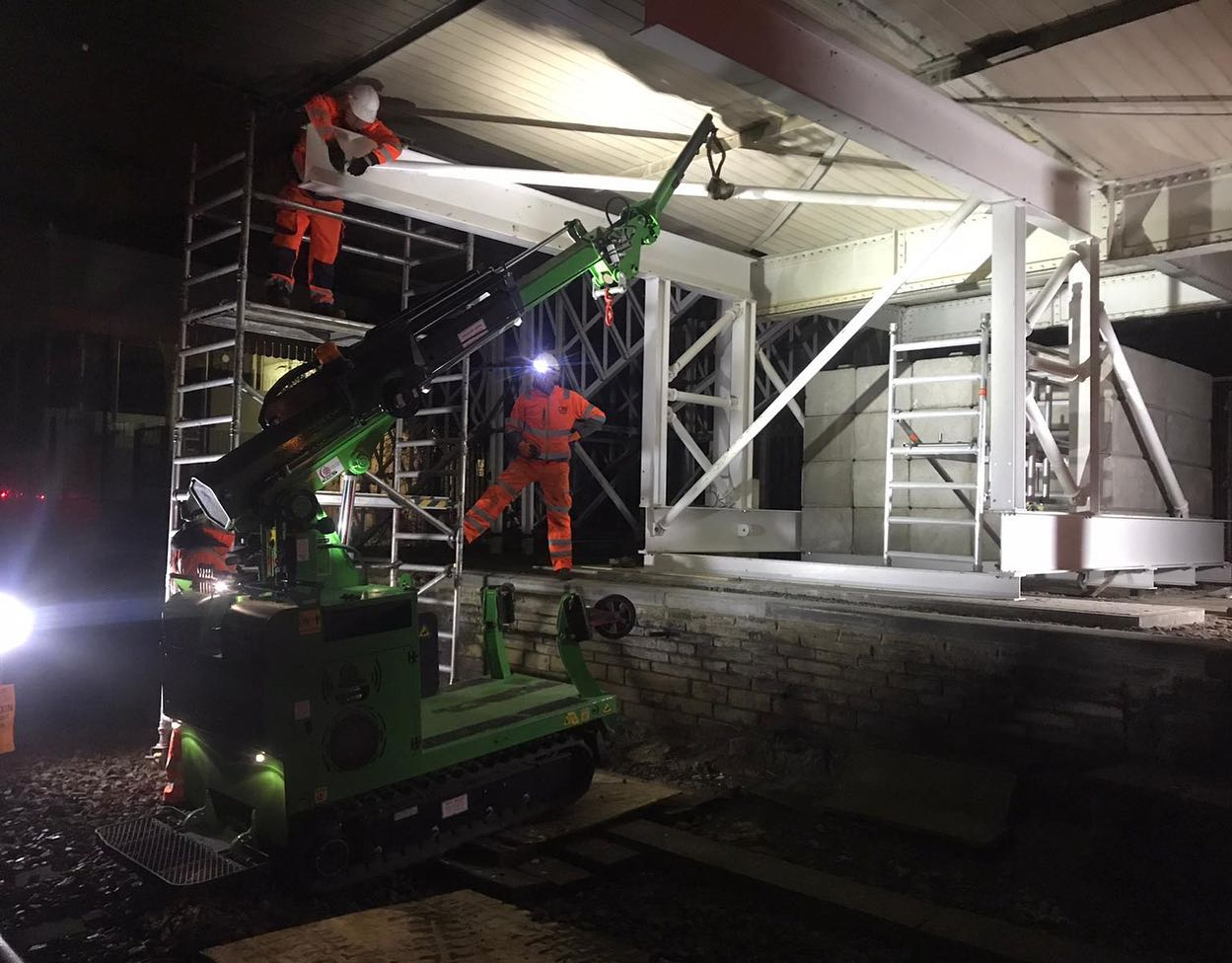 Steel Beam Installation for Network Rail