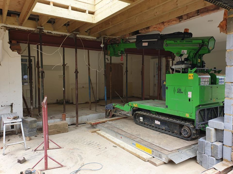 Heavy Steel Beam Installation in Guildford