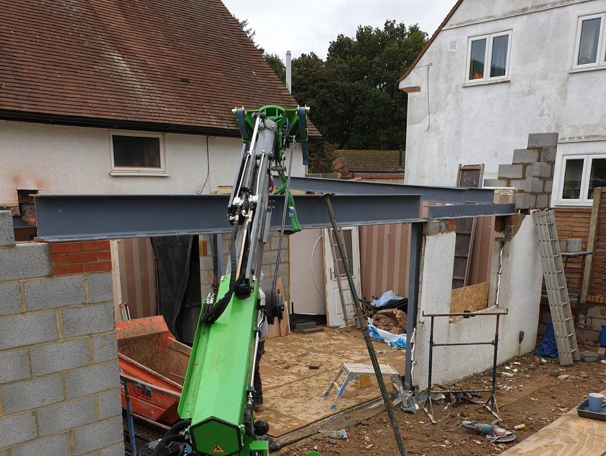 Heavy Steel Beam Installation in Hertfordshire