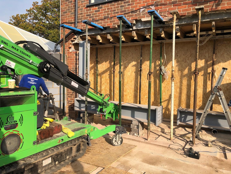 Large Goal Post Steel Frame Installation in Newbury