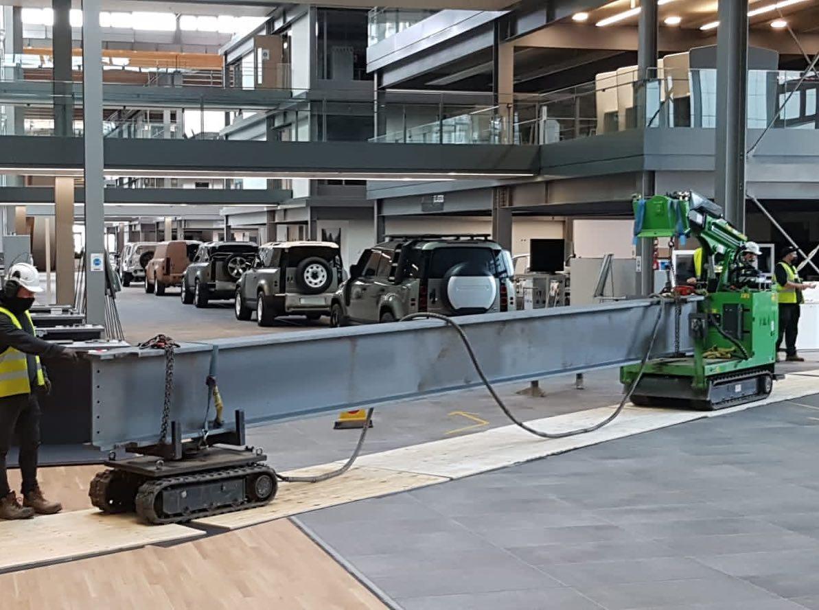 Indoor Steel Beam Installation for Jaguar Land Rover