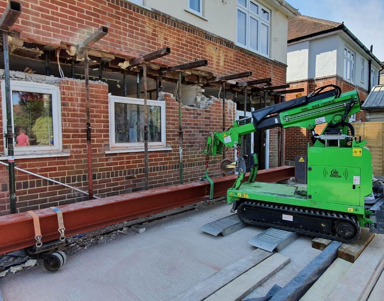 8.5m Steel Beam Installation in Bournemouth