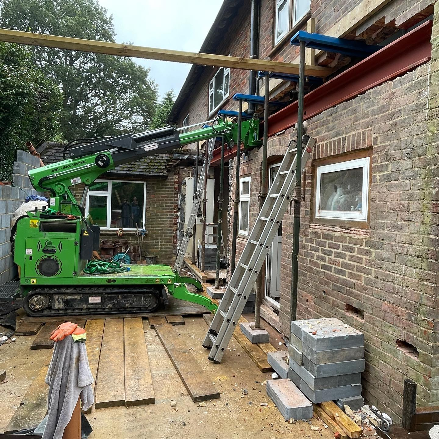 Tricky Steel Beam Installation in Hindhead